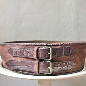 Suzanne Somers Wide Double Buckle Belt